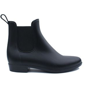 New JCREW Black Chelsea Rain Boots